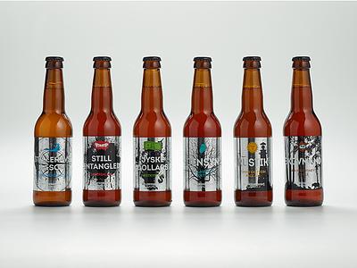 ØLSNEDKEREN Labels silver beer labels