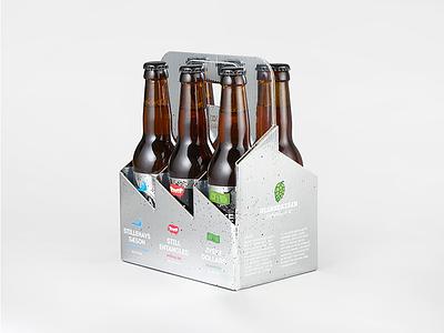 ØLSNEDKEREN Six-Pack silver labels beer sixpack
