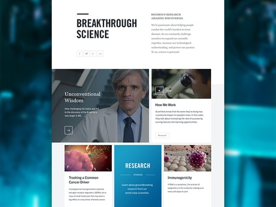 Genentech Architecture Redesign tiles typography layout grid module website web ui visual