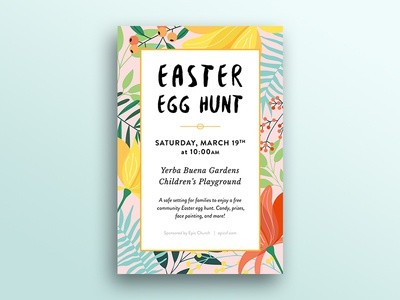 Easter Flyer - Epic Church easter color typography print poster visual