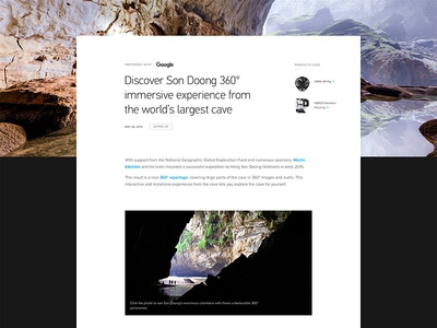GoPro Professional Case Study quote carousel tiles typography layout grid module website web ui visual