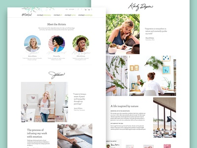 Minted Editorial Modules editorial tiles typography layout grid module website web ui visual