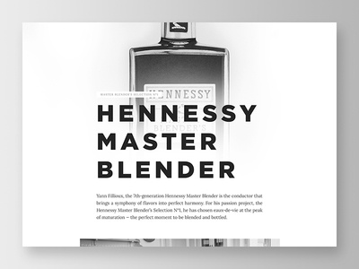 Hennessy Campaign #1 headline header text type interface ui visual design graphic design bold typography