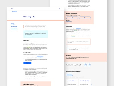Help Hub - Article modular module article contrast text editorial interface ui typography title visual design