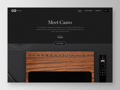 Caavo Marketing Page marketing product contrast text editorial ui typography title visual design