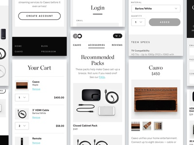 Caavo E-commerce cart detail product ecommerce text editorial interface ui typography title visual design mobile