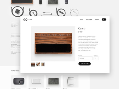 Caavo PDP shopping accessory pdp text interface ui typography title visual design ecommerce product