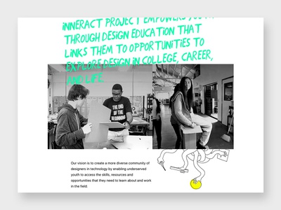 Inneract Project organic hand drawn urban visual texture typography themeboard website color