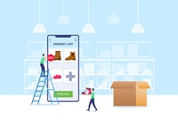 Update Product On Online Shop seller product add ecommerce online shop indonesia illustration