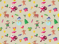 Cute Christmas Character Seamless Pattern