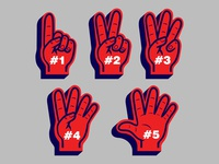 Counting Finger Glove Sport Fans
