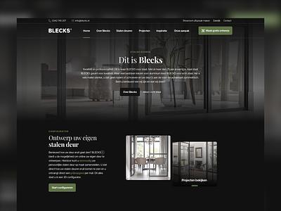 BLECKS • Steel doors design clean ui  ux user interface sketch ui
