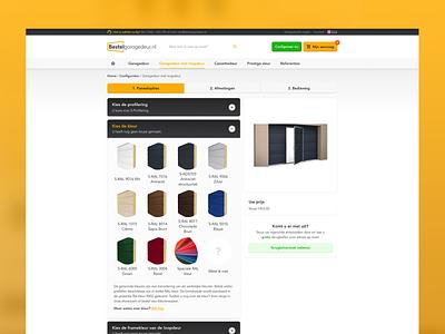 BESTELGARAGEDEUR • Configurator design clean user interface ui  ux ui sketch