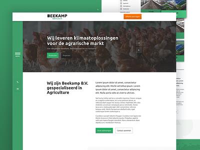 Beekamp Agriculture ux vector logo user interface ui  ux clean ui cards sketch bootstrap beekamp