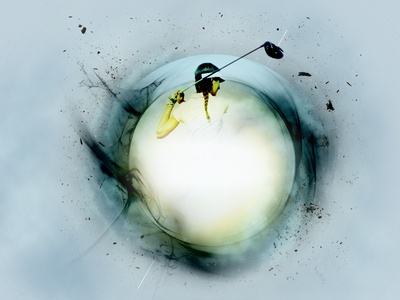 Background visual circle motion blur texture