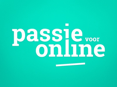 Passie voor online payoff typo lettering type typography green diagonal
