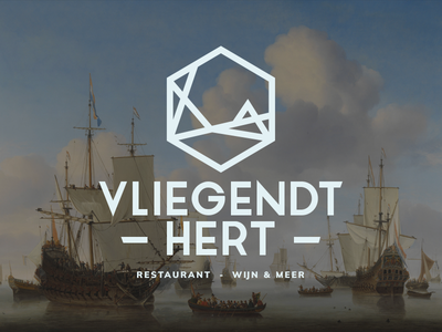 Logo design Vliegendt Hert restaurant voc branding logo