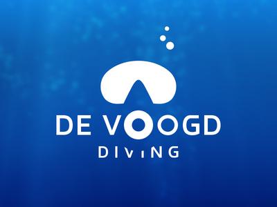 Logo design logo diving mask water clean