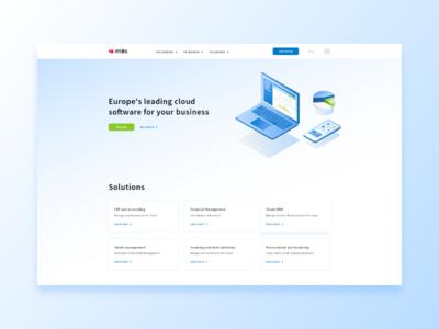 Visma.com landing page