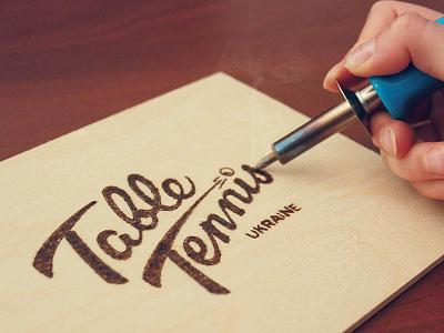 Table Tennis calligraphy table tennis burn ukraine game