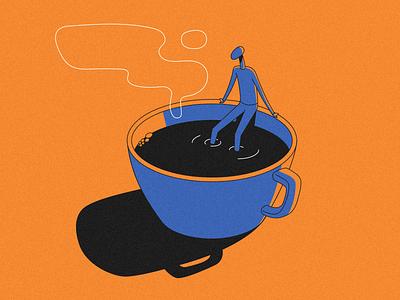 Black coffee shadow strange espresso black smoke man coffee tea cup
