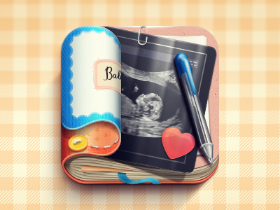 Baby Bump Journal journal baby bump pregnat woman ios icon pen