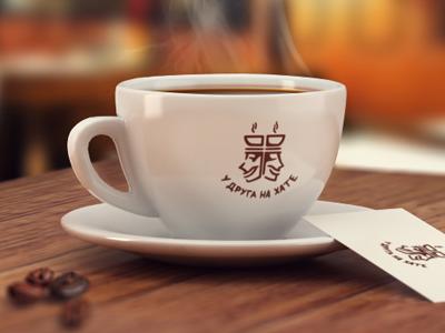 Friend coffee logo cup 3d