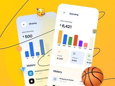 CaAll Dashboard & App UI Kit - Spending finance app finance spending cadesign mobile app mobile ui kit ui8 ui kit ios design app