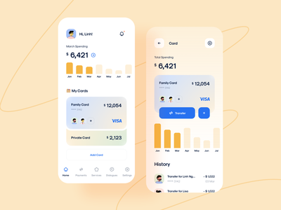 CaAll - Dashboard & App UI Kit mobile design financial financial app spending finance finance app ui8net ui8 ui kit design cadesign app ui kit