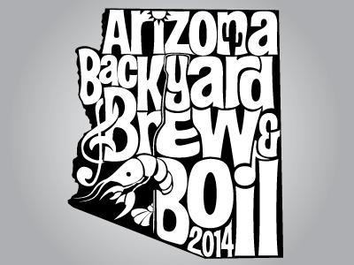 AZ Backyard Brew & Boil Beer Glass Imprint cajun crawfish music sun arizona