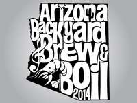 AZ Backyard Brew & Boil Beer Glass Imprint