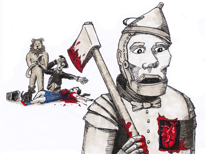 """""""Lion, once Scarecrow grabs that brain, the rest is yours."""" ink pen micron copic dorothy tinman wizard of oz"""