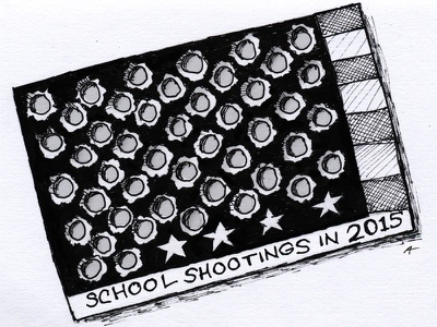 Our punchcard is almost full, America! flag gun america shooting school