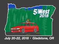 5erWest 2018 t-shirt design