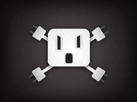 Electrical Outlet Skull-n-Crossbones