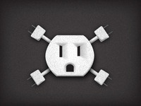 Electrical Outlet Skull-n-Crossbones 2