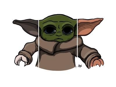 Grumpy Cat / Baby Yoda / Gizmo mashup