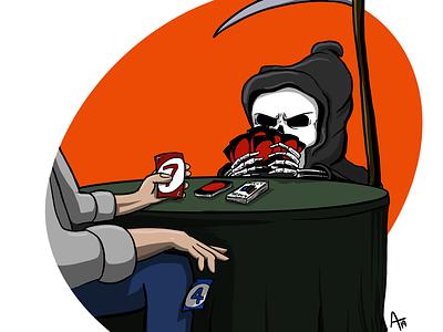Cheating Death azillustrators cheating scythe uno grim reaper
