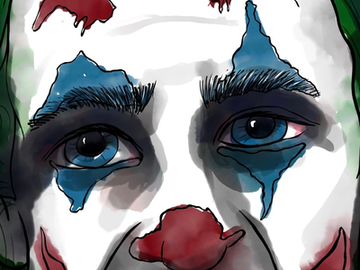 Joker watercolor sad eyes live brushes watercolor adobe fresco joker