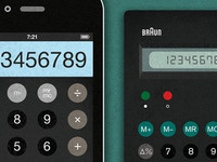 iPhone / Braun Calculator
