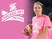 Chicago Sky - Breast Health Awareness T Shirt