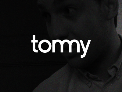 Tommy personal sign logotype typeface tommy