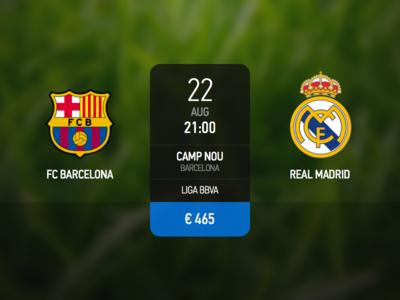 Match Info ui clasico match football