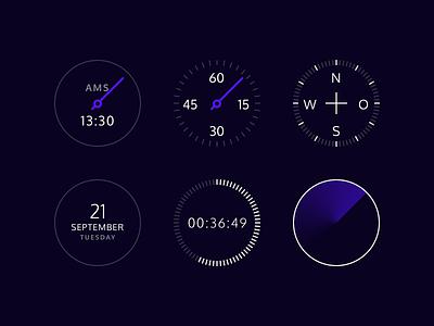 Watch UI ui interface faces watch smart