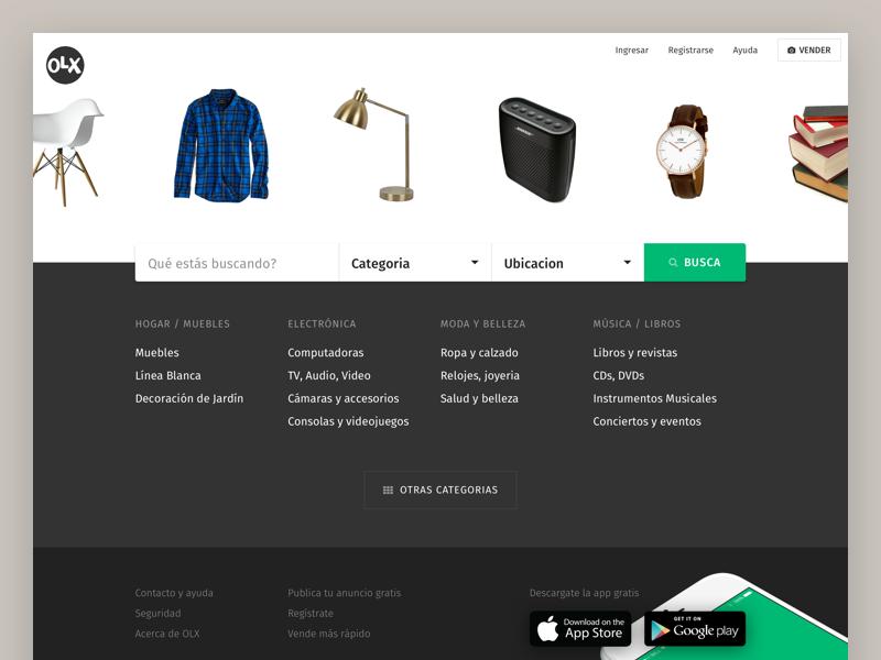 OLX Redesign layout branding website refresh marktplaats amazon ebay green redesign webdesign design web