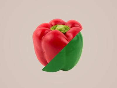 Pebrots vegetables slice restaurant parallax fruit foodie food dynamic branding bar