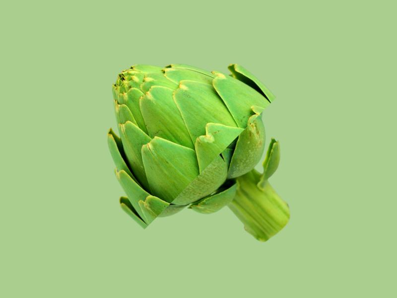 Alcachofa vegetables slice restaurant parallax fruit foodie food dynamic branding bar