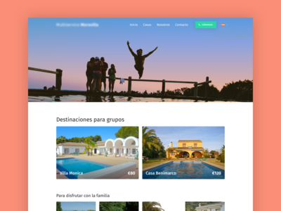 Holiday Homes reservation booking clean clinical airbnb responsive web design website