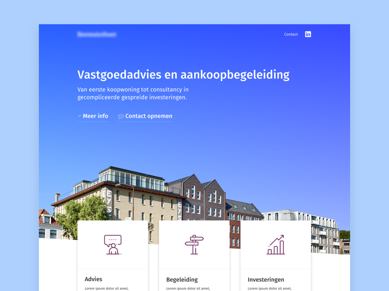 Real Estate Landing template wordpress ui design web vastgoed makelaar company startup estate real