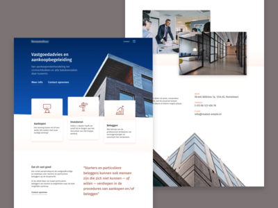 Real Estate Landing wordpress web vastgoed ui template startup makelaar estate real design company